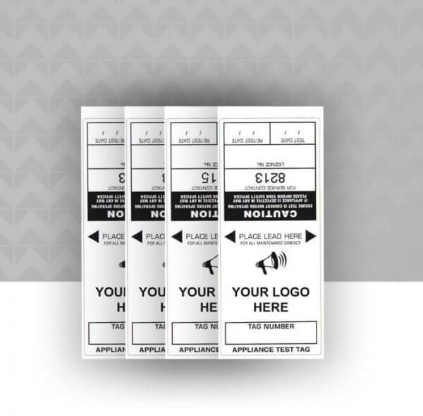 Custom self laminating test tag labels