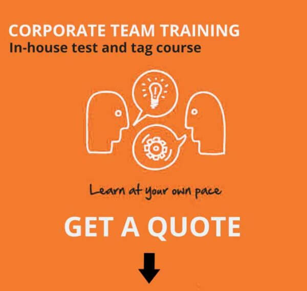 corporate test and tag course